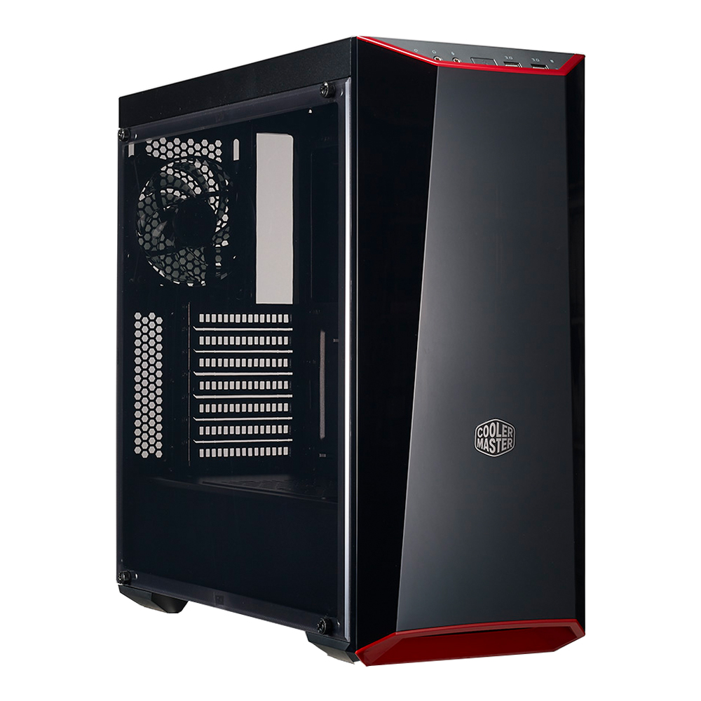 MasterBox Lite 3.1 mATX Case with Dark Mirror Front, Acrylic side panel, Customizable trim colors (MCW-L3B3-KANN-01)