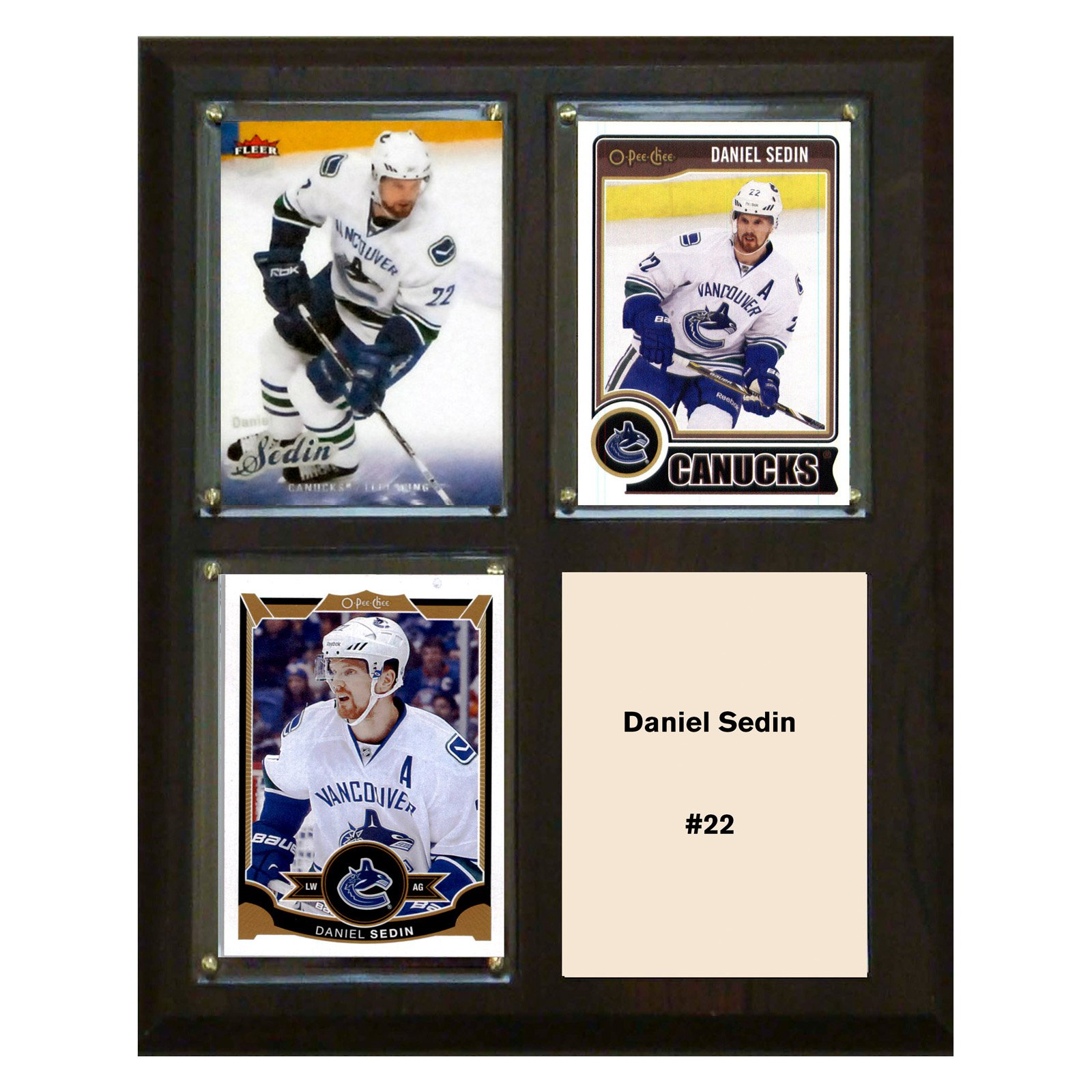 "C & I Collectables NHL 8"" x 10"" Daniel Sedin Vancouver Canucks 3-Card Plaque"