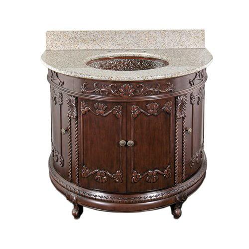 JSG Oceana Semi-Circle 36'' Single Bathroom Vanity Set