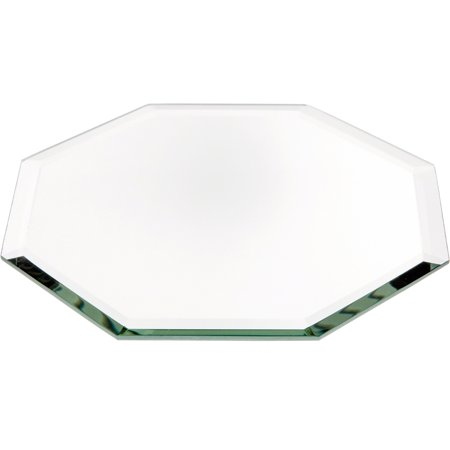 "Beveled Glass Mirror, Octagonal 3mm - 5"" Diameter"