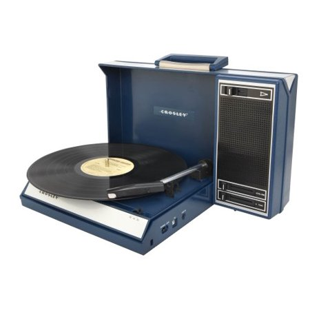 Crosley Cr6016a Bl Spinnerette Portable Usb Turntable With Software For Ripping And Editing Audio  Blue