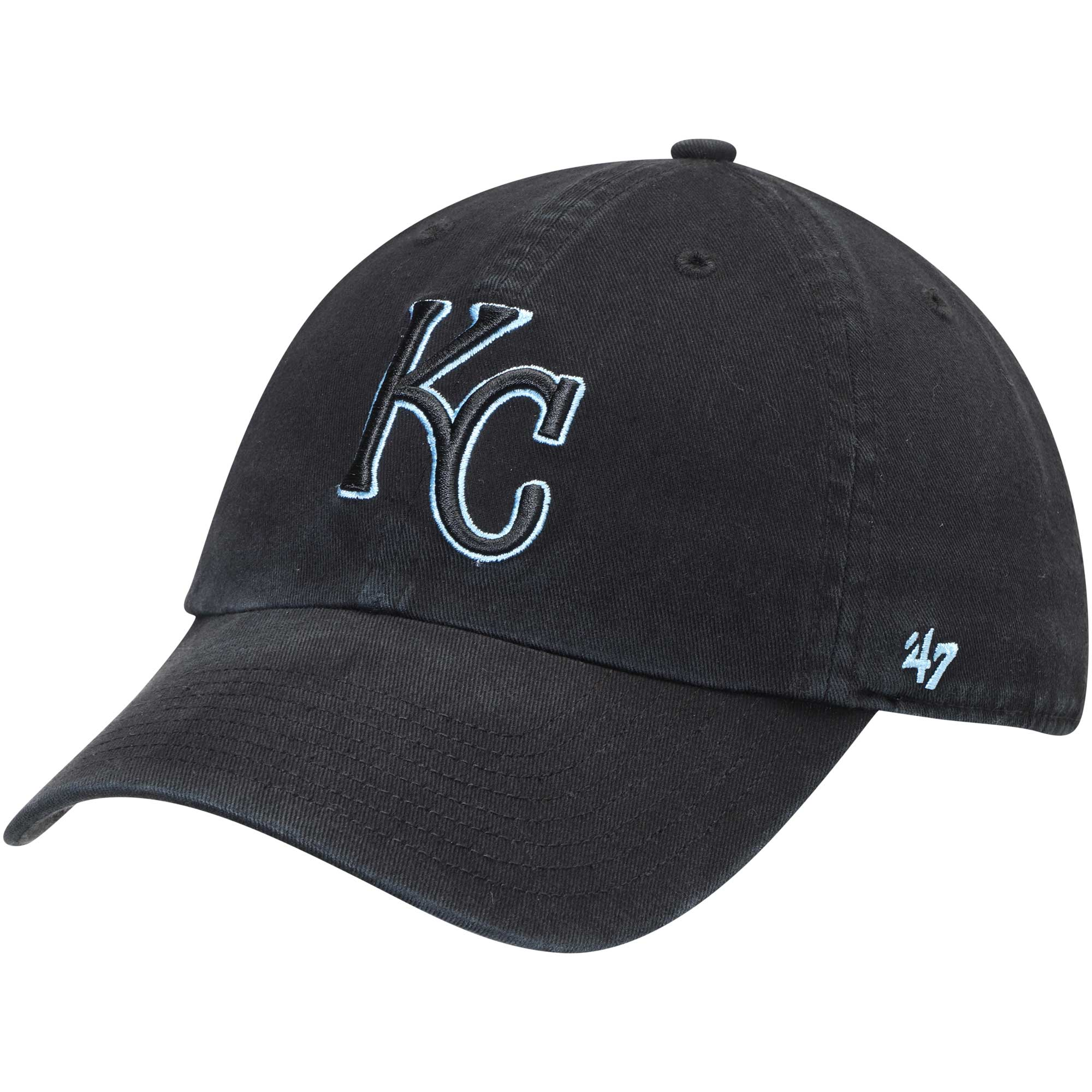 Kansas City Royals '47 Team Color Clean Up Adjustable Hat - Black - OSFA