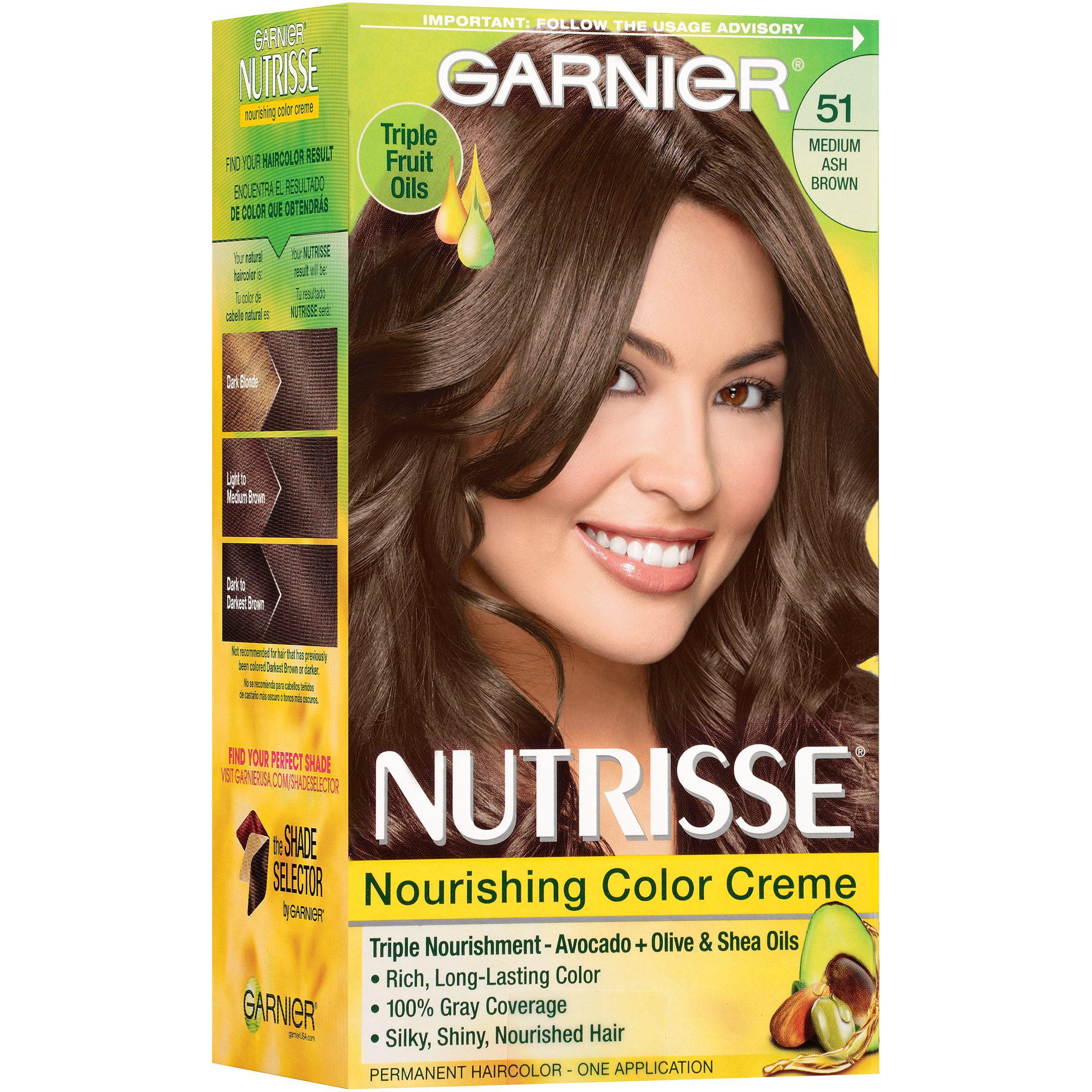 Garnier Nutrisse Nourishing Color Creme Hair Color, 83 Medium ...