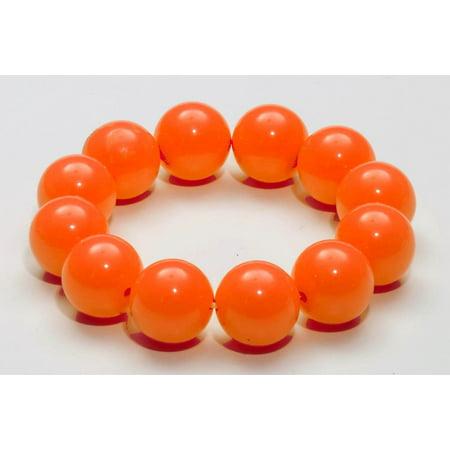 Club Candy Gumball Costume Bracelet: Orange One Size - Gumball Costume