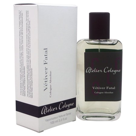 Vetiver Fatal by Atelier Cologne for Unisex - 3.3 oz Cologne Absolue Spray (Vetiver Cinnamon Perfume)