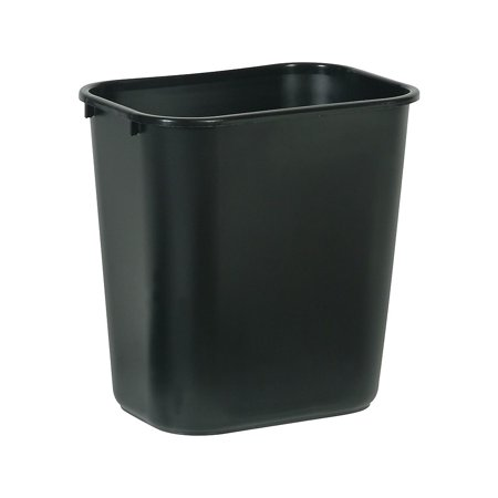 "Brighton Soft Molded Wastebasket 7 Gallons Black 15""H x 14 1/2""W x 10 1/2""D 124867"