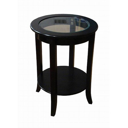 better homes and gardens round accent table espresso