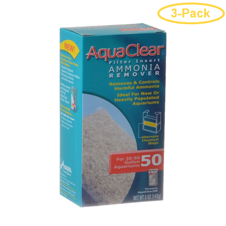Aquaclear Ammonia Remover Filter Insert For Aquaclear 50 Power Filter - Pack of 3