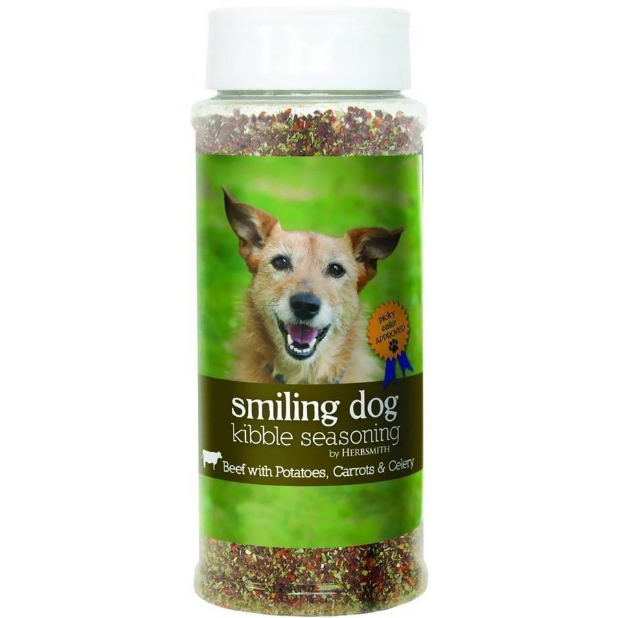 Herbsmith Smiling Dog Kibble Seasoning, Beef with Potatoes, Carrots and Celery, Large