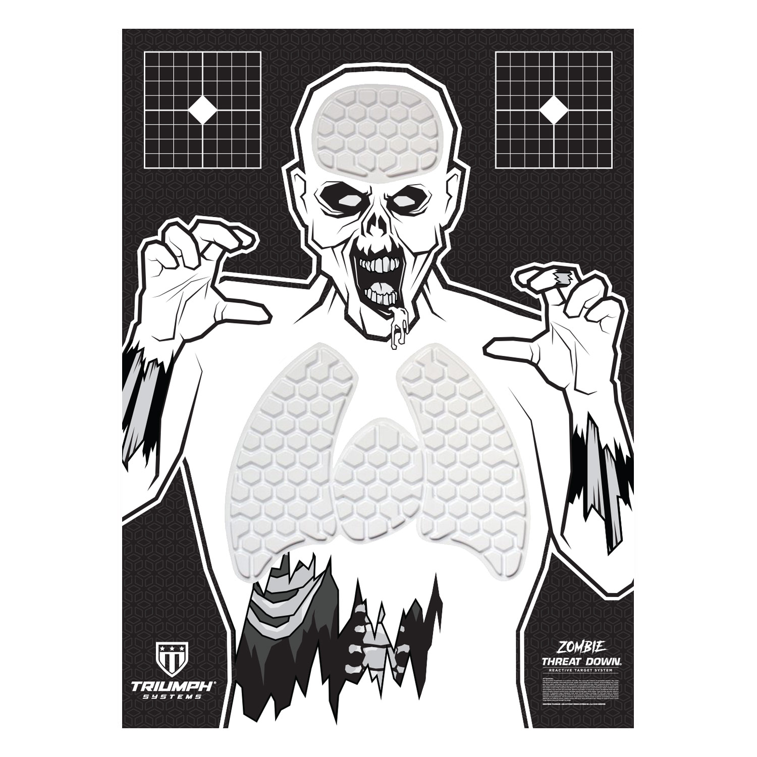 Threat Down Zombie Silhouette | Reactive Target | Shooting Target ...