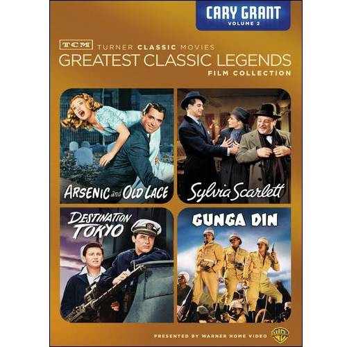 TCM Greatest Classic Films: Legends - Cary Grant Vol. 2: Sylvia Scarlett / Gunga Din / Destination Tokyo / Arsenic And Old Lace