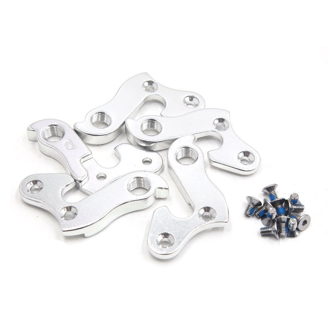 5Pcs 9mm Thread Dia Silver Tone Bicycle Derailleur Hanger Lug Pull Tail Hook