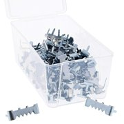 """100-Count Metal Sawtooth Picture Frame Hangers with No Nail + Storage Box, 1"""""""