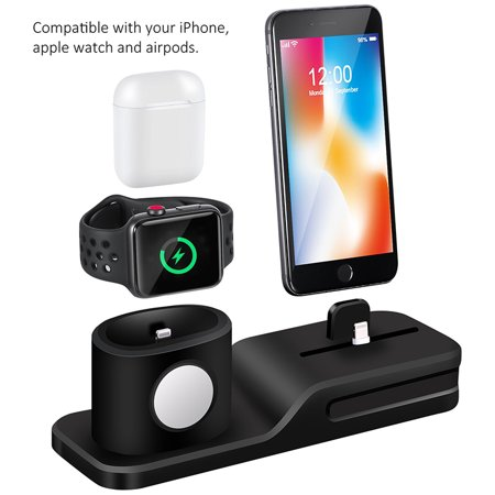04e2ecd7697 3 in 1 Charging Stand Universal Smartwatch Silicone Charging Station,  Strong Adsorption, Flexible Charging ...