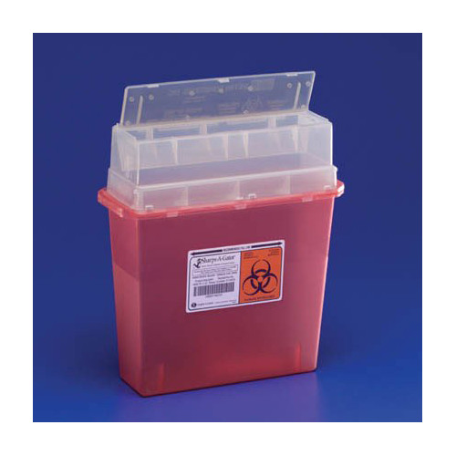 Kendall Healthcare Products Sharps-A-Gator Wall Mounted Unit