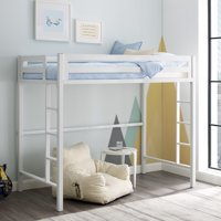 Manor Park Premium Deluxe Twin Metal Loft Bed - White