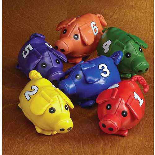 Count-N-Bags Beanbag Pigs, Numbered 1 Through 6, Set of 6
