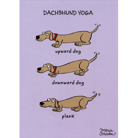 Recycled Paper Greetings Dachshund Yoga Funny / Humorous Birthday Card](Dachshund Halloween Cards)