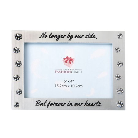 Fashioncraft Fashioncraft Pet Memorial 6 x 4 Silver Horizontal Photo Frame Novelty Home Decor Pet Photo Picture Frame
