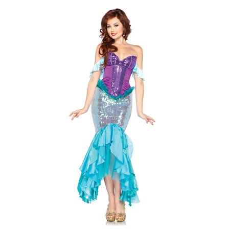 Adult Disney Princess Deluxe Arial Mermaid Costume by Leg Avenue - Adult Mermaid