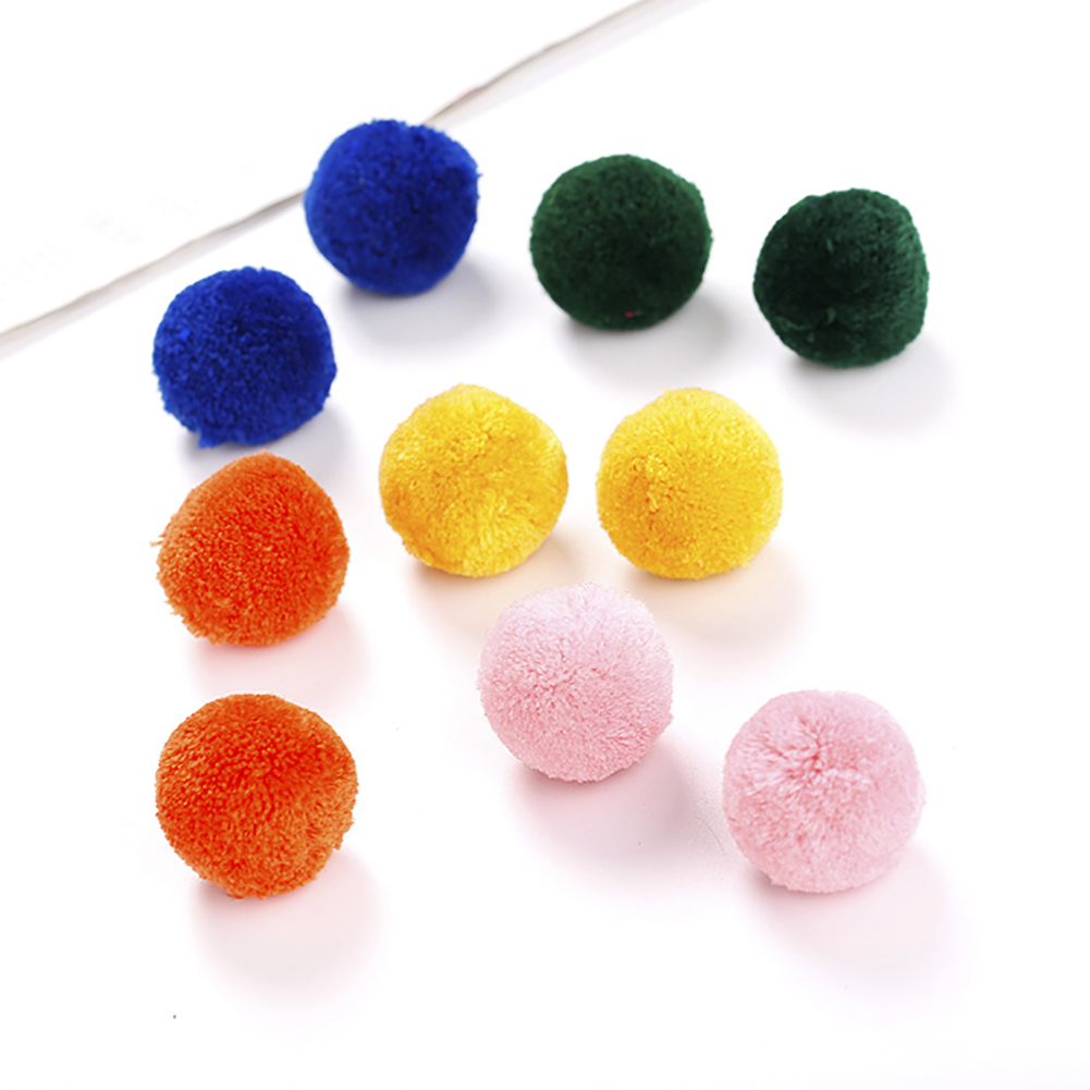 Girl12Queen Cashmere Bright Color Ball Cat Toy, 10 Count