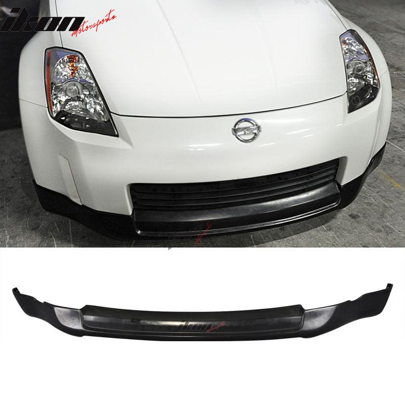 Fits 03-05 Nissan 350Z ING-S Type Front Bumper Lip Unpainted Black - PU