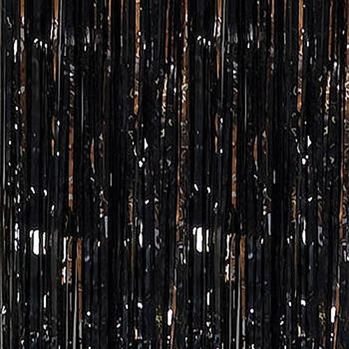 shindigz foil fringe door curtai black party streamers