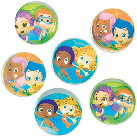 Bubble Guppies Bounce Balls  6Pk