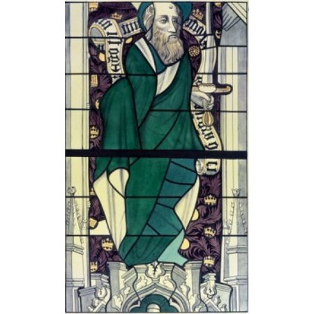 Century Stained Glass - Apostle Paul  stained glass  13th century Poster Print