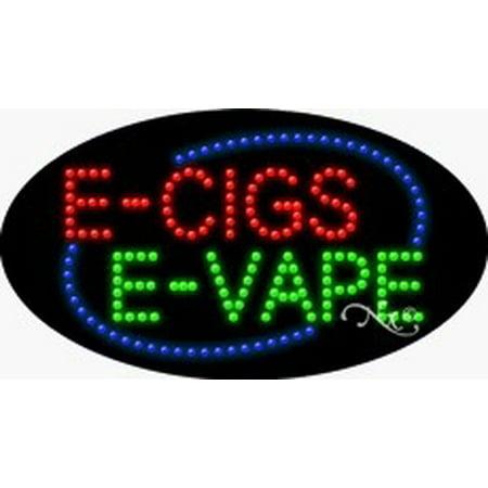 E Cigs E Vape Flashing & Animated LED Sign (High Impact, Energy
