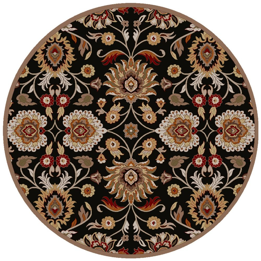 Round Or Rectangular Area Rug: Contemporary Corinne Collection Area Rug In Multiple Color