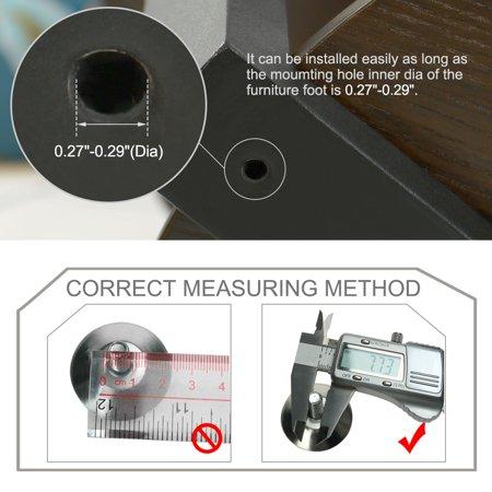 M8 x 25 x 30mm Leveling Feet Adjustable Leveler for Office Furniture Leg 24pcs - image 4 de 7