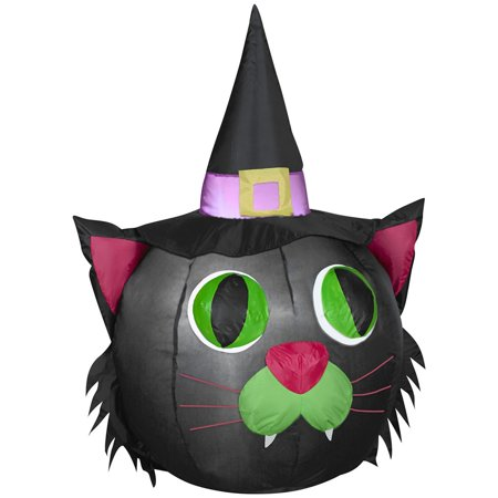 Halloween Inflatable - Pumpkin Cat - 4 ft tall
