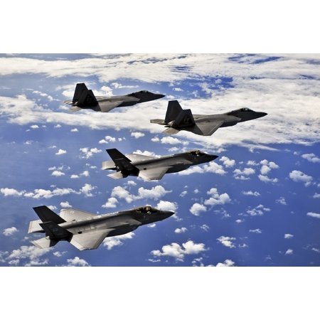LAMINATED POSTER Airplane F-22 Flight Fighter Military Jet Flying Poster Print 24 x