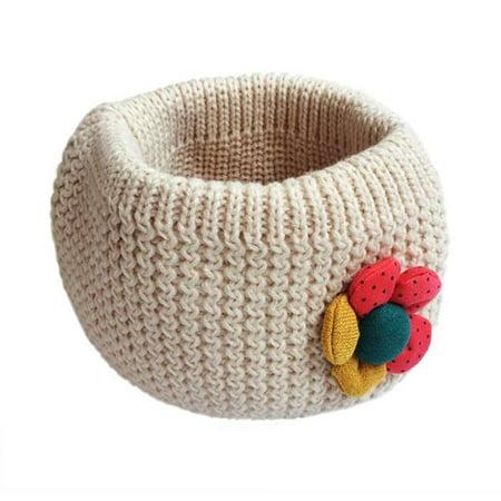 - Kids Scarf Winter O-ring Knit Woolen Baby Scarf Neck Warmer BG