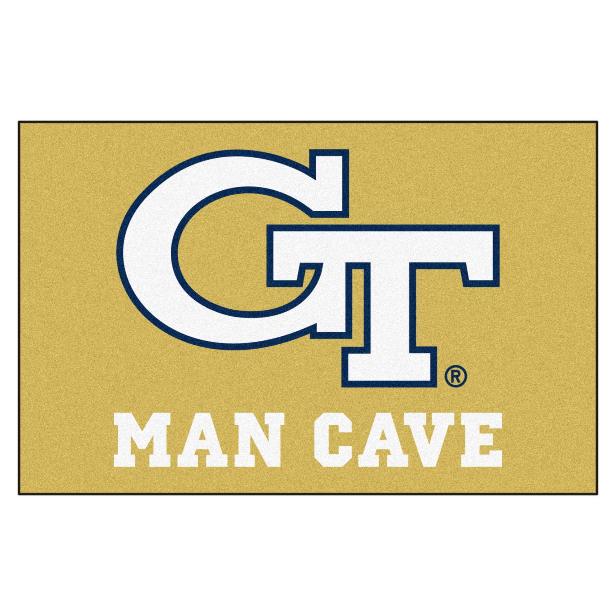 "Georgia Tech Man Cave Starter Rug 19""x30"""