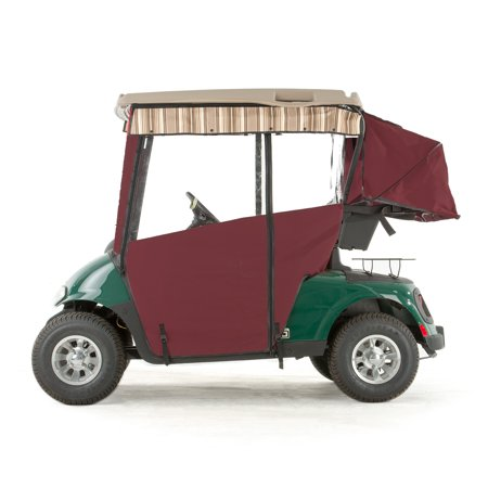 EZGO RXV Golf Cart PRO-TOURING Sunbrella Track Enclosure - Burgundy Sunbrella Golf Cart Rain Cover on clear plastic golf cart covers, club car golf cart rain covers, rail golf cart covers, eevelle golf cart covers, vinyl golf cart covers, door works golf cart covers, star golf cart covers, portable golf cart covers, national golf cart covers, buggies unlimited golf cart covers, sam's club golf cart covers, harley golf cart seat covers, yamaha golf cart covers, canvas golf cart covers, classic golf cart covers, discount golf cart covers, custom golf cart covers, golf cart cloth seat covers, golf cart canopy covers, 3 sided golf cart covers,