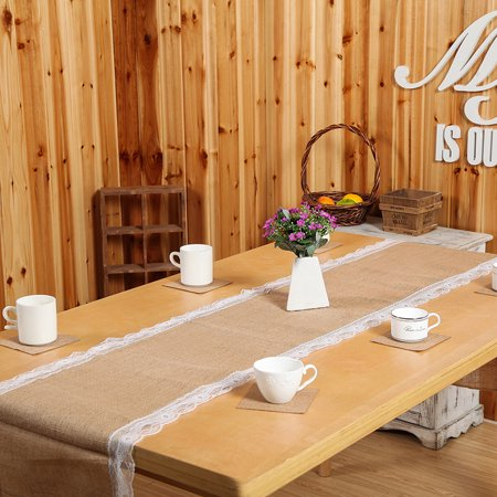 Natural Burlap Table Runner Modern Rustic Home Decor Rustic Elegant Style Decorating 60