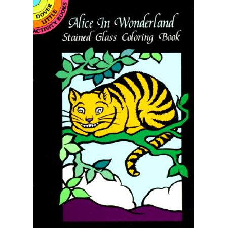 Alice in Wonderland Stained Glass Coloring Book](Dog In Alice In Wonderland)