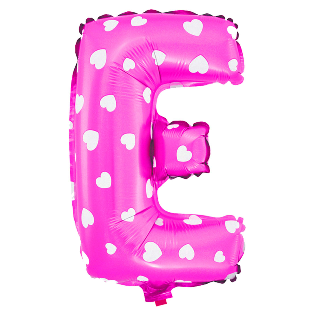 Unique Bargains Foil Letter E Heart Pattern Helium Balloon Birthday Wedding Decor Fuchsia 16""