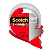 Scotch Shipping Packaging Tape with Dispenser 3350 RD, 1.88 in x 54.6 yd