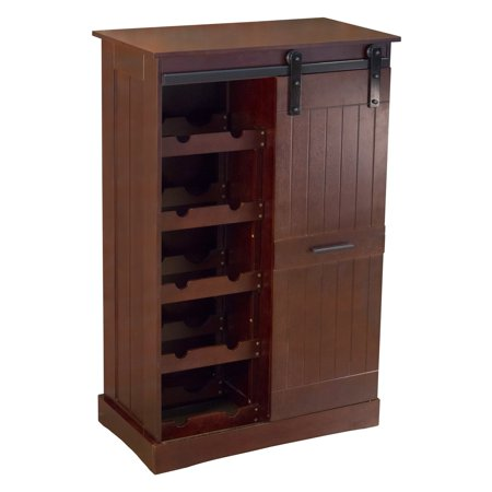 Northbeam Oxford Bar Cabinet, Dark Oak