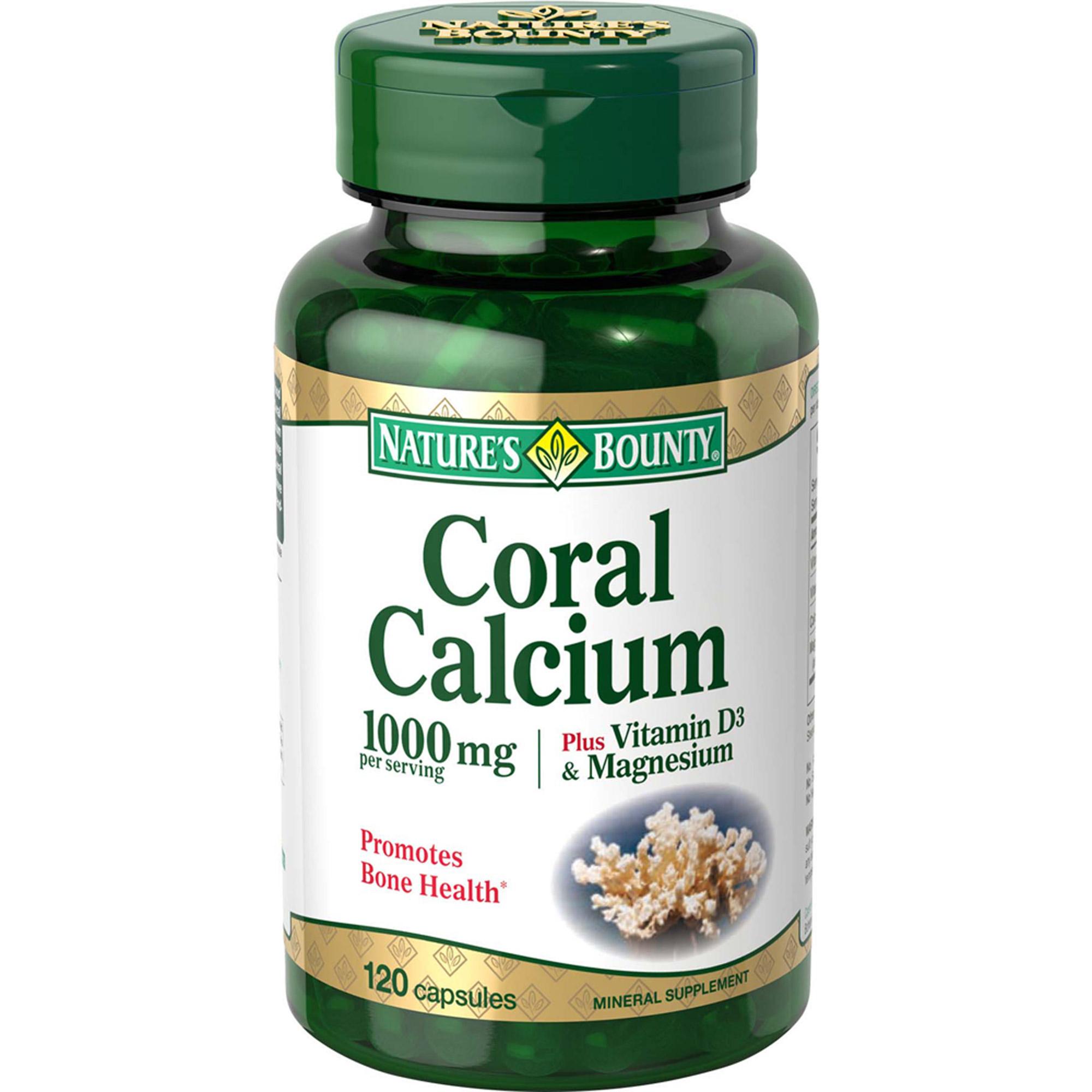 Natures bounty vitamins reviews - Nature S Bounty Coral Calcium Plus Vitamin D3 Magnesium 1000 Mg Per Serving 120 Capsules Walmart Com