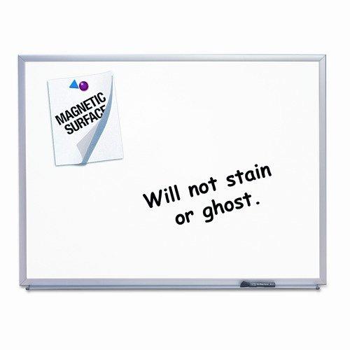 Quartet Magnetic Dry-Erase Board, Porcelain, 48 x 36, White, Aluminum Frame