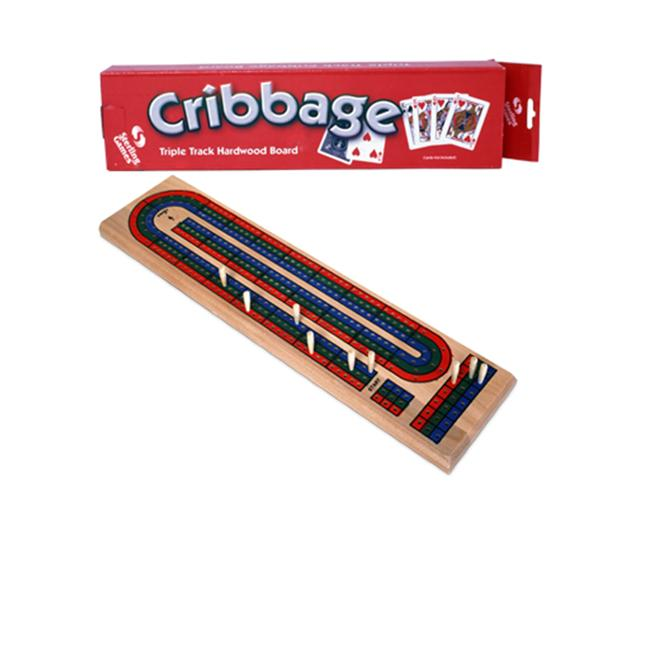 Wooden Triple Track Cribbage