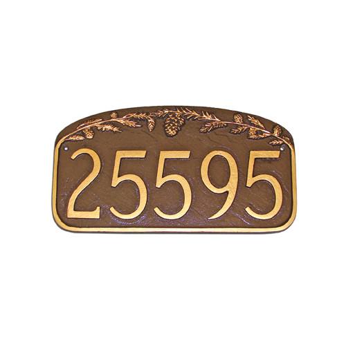 Montague Metal Products Inc. Pine Cone Address Plaque