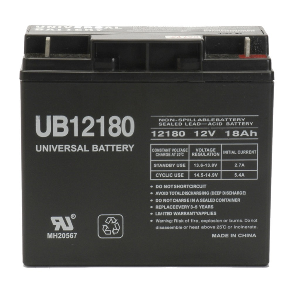UB12180 Replacement Battery for Parasystems CP10K - 12V 18AH
