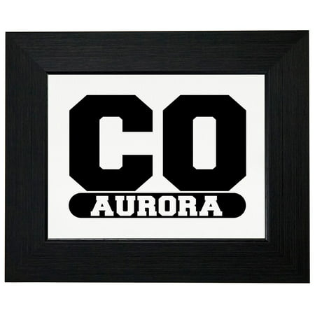 Aurora, Colorado CO Classic City State Sign Framed Print Poster Wall or Desk Mount - City Of Aurora Co