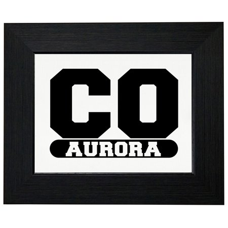Aurora, Colorado CO Classic City State Sign Framed Print Poster Wall or Desk Mount Options - City Of Aurora Co