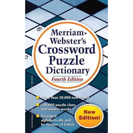 Merriam Websters Crossword Puzzle Dictionary  Fou